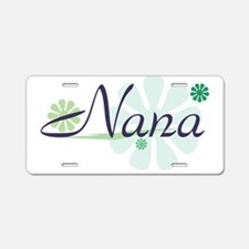 Fun Nana Aluminum License Plate