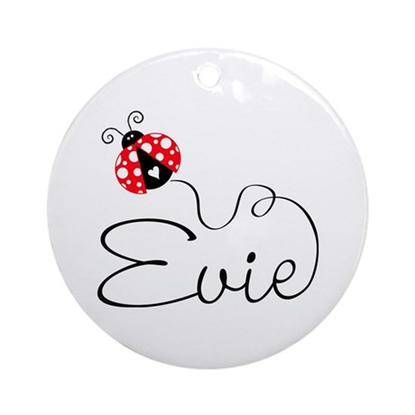 Ladybug Evie Ornament (Round)