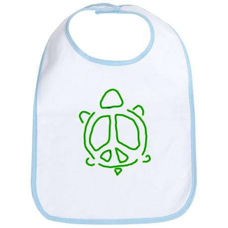 Peace turtle Bib