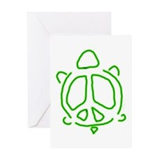 Peace turtle Greeting Card