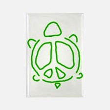 Peace turtle Rectangle Magnet