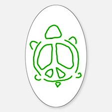 Peace turtle Sticker (Oval)