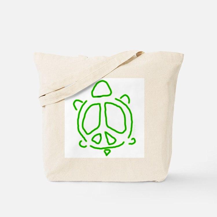 Peace turtle Tote Bag