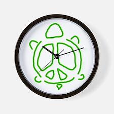 Peace turtle Wall Clock