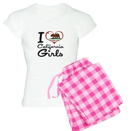 I Heart California Girls Women's Light Pajamas
