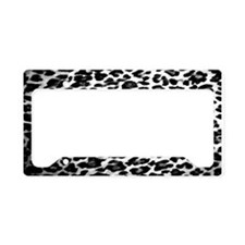 Black & White Leopard Print License Plate Holder