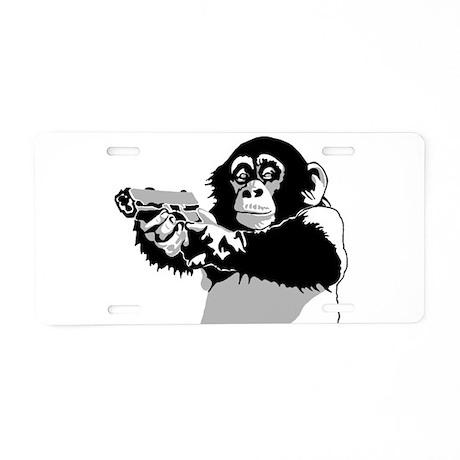 Space Monkey 2 Aluminum License Plate