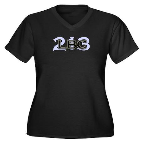 LBC 213 Women's Plus Size V-Neck Dark T-Shirt