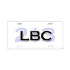LBC 213 Aluminum License Plate