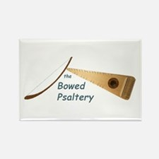 Cool Bowed psaltery Rectangle Magnet