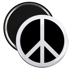 White Peace Sign Magnet