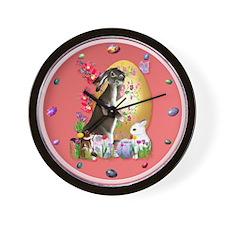 A Good Three Bunny Easter Wall Clock