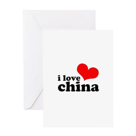 I Heart China Greeting Card