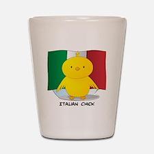 Italian Chick Shot Glass