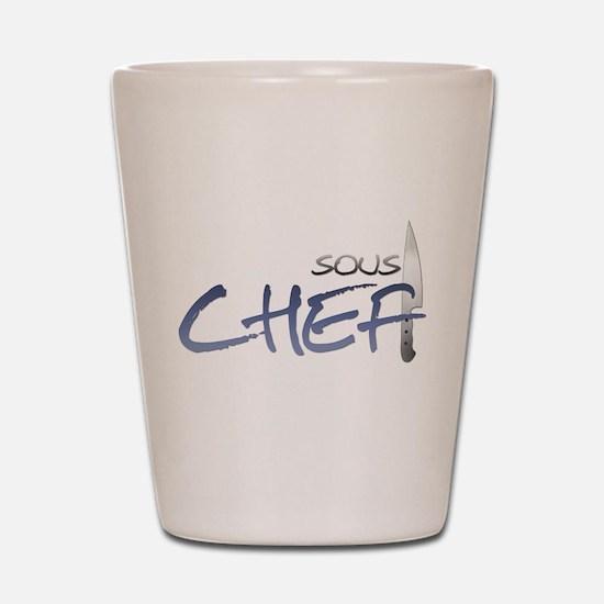 Blue Sous Chef Shot Glass
