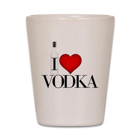 I Heart Vodka Shot Glass