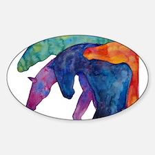 Rainbow Horses Decal