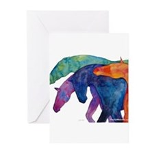 Rainbow Horses Greeting Cards (Pk of 10)