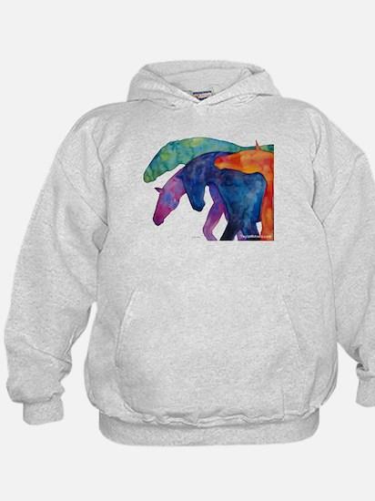 Rainbow Horses Hoodie