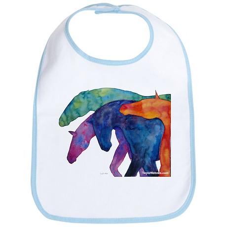 Rainbow Horses Bib
