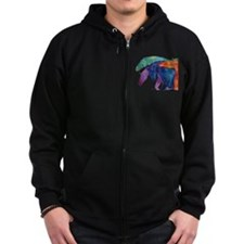 Rainbow Horses Zip Hoodie