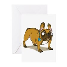 Funny Cute funny bulldogs Greeting Cards (Pk of 20)