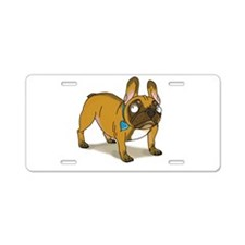 Cute Frenchies Aluminum License Plate
