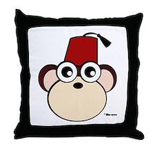 Fez Monkey Throw Pillow