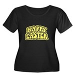 Happy Easter Retro Women's Plus Size Scoop Neck Da