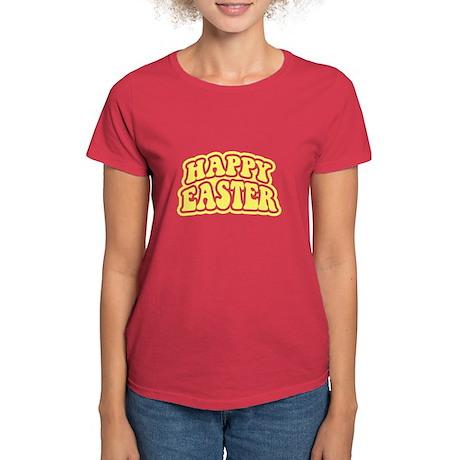 Happy Easter Retro Women's Dark T-Shirt