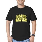 Happy Easter Retro Men's Fitted T-Shirt (dark)