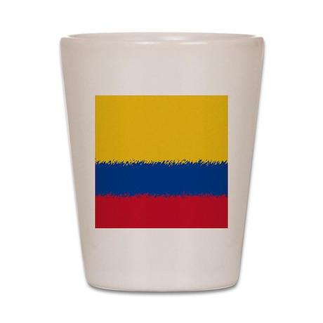 Colombian Flag Shot Glass