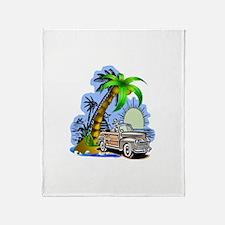 Tropical Scene Throw Blanket