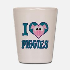 I Love (Heart) Piggies (Pigs) Shot Glass