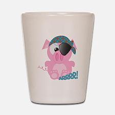 Cute Goofkins Piggy Pig Pirat Shot Glass