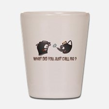 Pot calling the Kettle Black Shot Glass