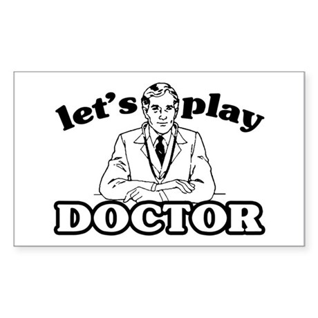Play Doctor Rectangle Sticker