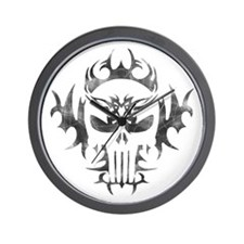 Tribal Punisher Wall Clock