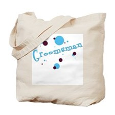 Retro Dots Groomsman Tote Bag