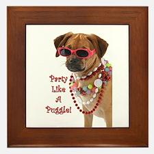 Cute Puggle Framed Tile