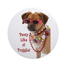 Cute Puggle Ornament (Round)