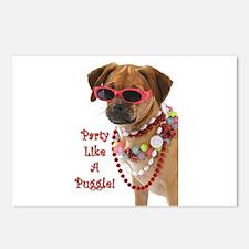 Cute Puggle Postcards (Package of 8)
