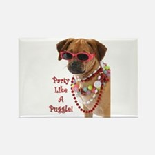 Cute Puggle Rectangle Magnet (100 pack)