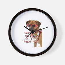 Cute Pug beagle Wall Clock