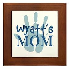 Wyatt's Mom Framed Tile