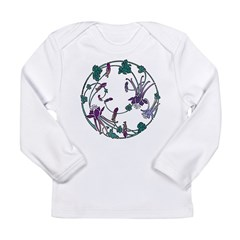 Circle of Flowers Long Sleeve Infant T-Shirt