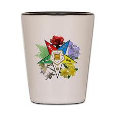 Eastern Star Floral Emblems Shot Glass