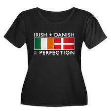 Irish Danish heritage flags T