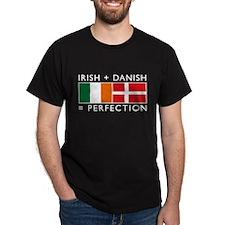 Irish Danish heritage flags T-Shirt