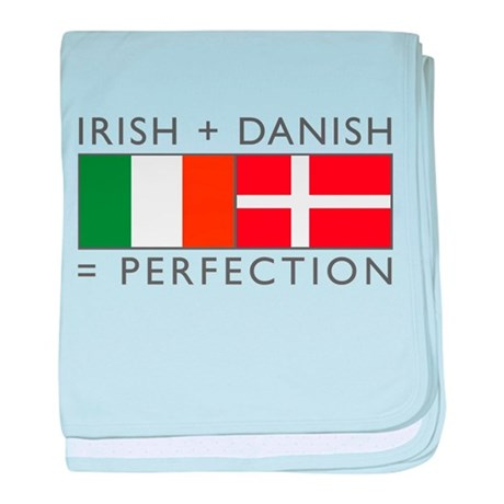 Irish Danish heritage flags baby blanket